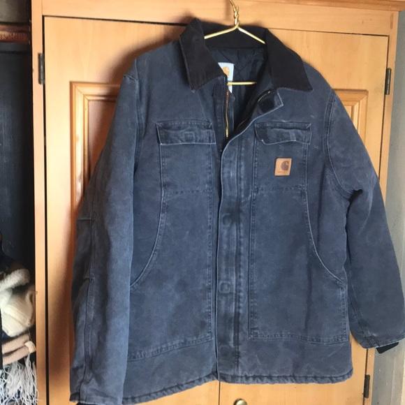 23bfcaa61 Men's large carhartt corduroy collar heavy jacket